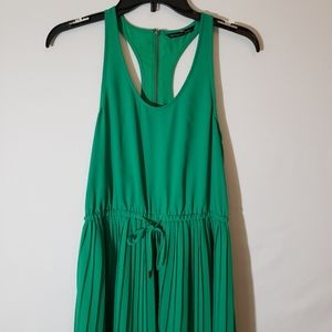 Victoria's Secret Emerald Green Pleated Maxi Dress